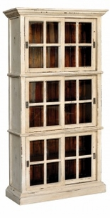 English Bookcase with Glass Doors