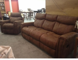Flexsteel Double Reclining Sofa and Reclining Chair Set