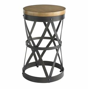 French Market Round Lamp Table
