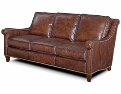Gryphon Leather Sofa by Bradington-Young