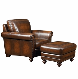 Hamilton Leather Chair by Bassett Furniture