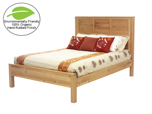 Amish Hand-rubbed Organic Finish Cherry Platform Bed