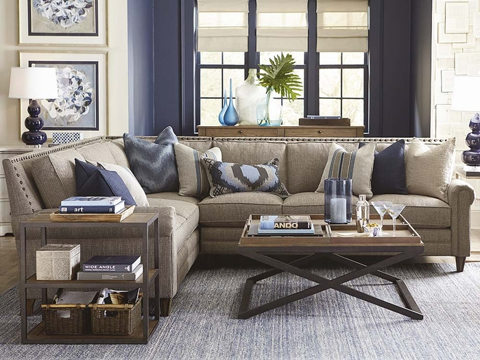 Harlan Sectional Sofa by Bassett sectional sofas
