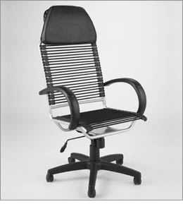 high back bungie office chair