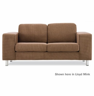hugo contemporary loveseat