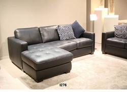 I276 Italsofa black leather sectional