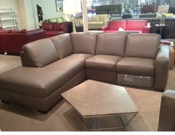Italsofa Reclining Sectional in Leather Floor Model