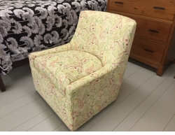 Linda swivel chair by Norwalk Furniture