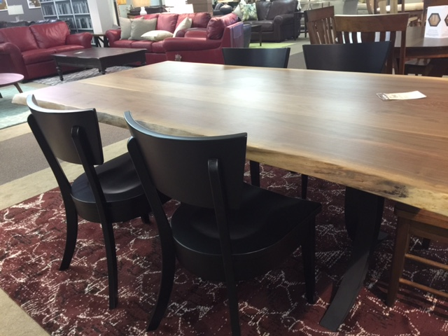Live Edge Amish Dining Set Dining Room