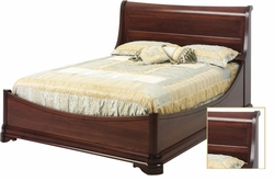 Amish Louie Phillipe Solid Cherry Euro Bed