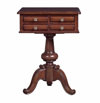 Louis Philippe Pedestal Table by Bassett