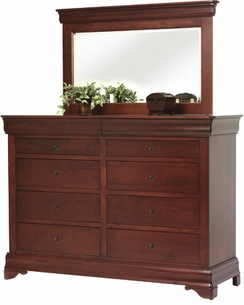 Amish Louis Phillipe Solid Cherry Double Dresser