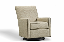 lucy modern swivel glider chair