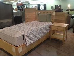 Made in Vermont Twin Storage Bedroom Set Floor Model