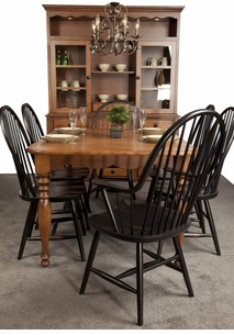 Amish Manchester Solid Cherry Table Set