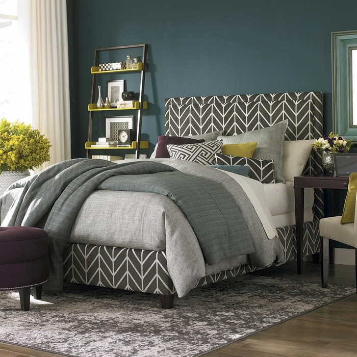 Manhattan Upholsted Bed with Low Footboard by Bassett
