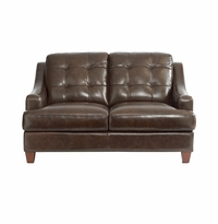 Mercer Leather Loveseat by Bassett Furniture