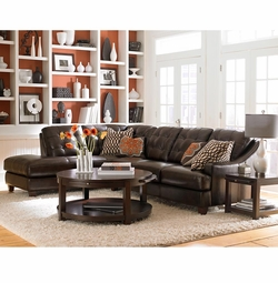 Mercer Leather Sectional Sofa by Bassett Furniture