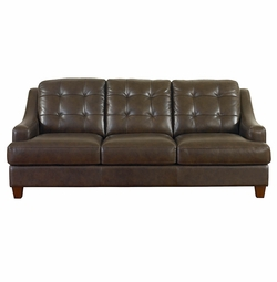 Mercer Leather Sofa by Bassett Furniture