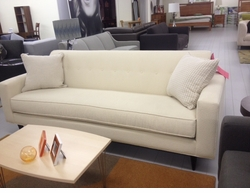 Retro Modern Floor Model Sofa: In Store Purchase Only