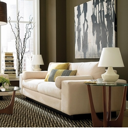 Modern Comfort Sofa by Bassett Furniture