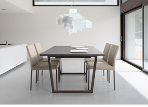 Modern Metal Base Dining Table