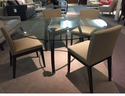 Modern Round Glass Top Dining Set