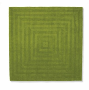 modern square chartruse rug