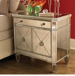 Monaco Mirrored Small Chest by Bassett Furniture