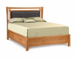 Monterey Storage Bed with Upholstered Headboard by Copeland Furniture