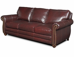 Nebo Leather Sofa by Bradington-Young