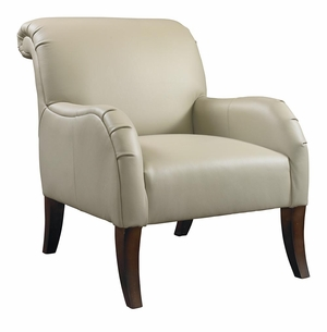 Nora Leather Chair by Bassett Furniture
