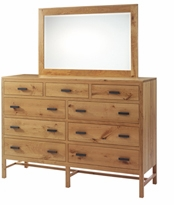 Amish Organic Finish Solid Wood High Dresser
