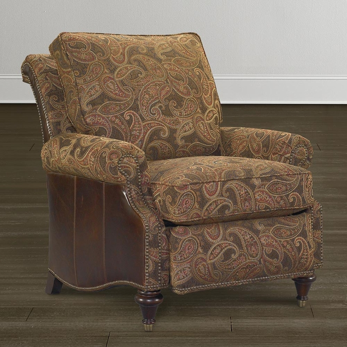 Oxford Leather Accent Recliner By Bassett Bassett Chairs Recliners Amp Ottomans