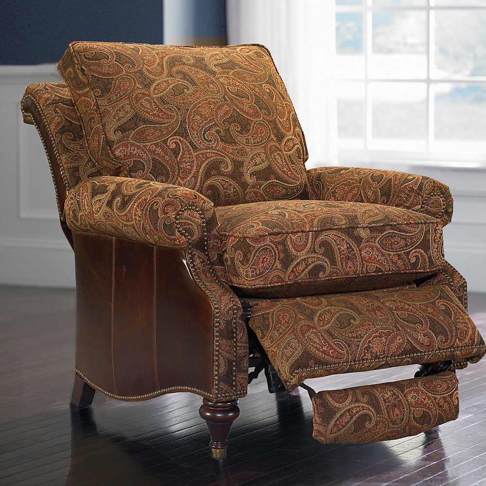 Oxford Leather Accent Recliner By Bassett Bassett Chairs