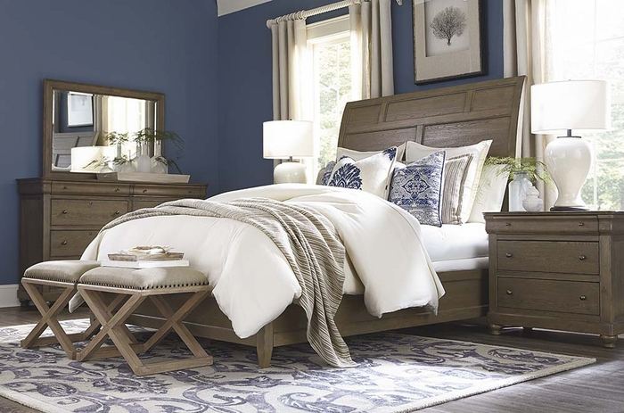 Provence Sleigh Bed by Bassett Furniture bedroom collections