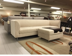 Replay Modern Sofa & Ottoman with Tray Set