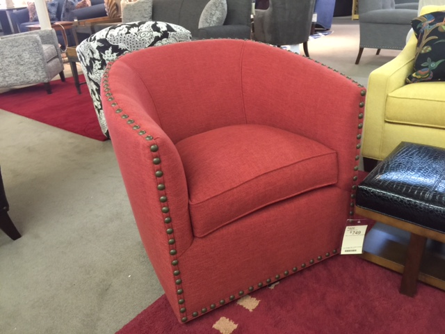 Sarah Swivel Chair by Norwalk Furniture