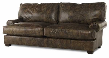 Shabby Chic Comfy Sofa in Leather