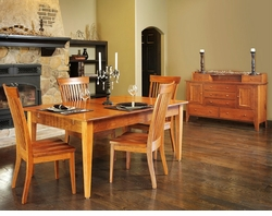 Ann Arden Amish Shaker Solid Cherry Dining Set