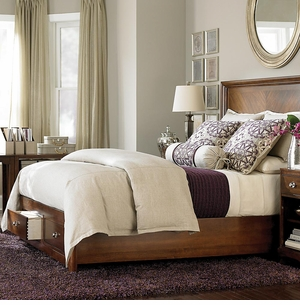 Small Spaces Panel Storage Bed