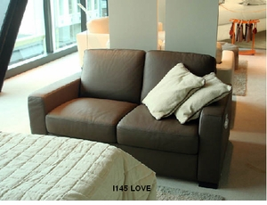 Solitaire leather loveseat by Italsofa i145