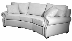 Stowe Curved Sofa by Norwalk Furniture