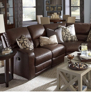 Versa Leather Reclining Sectional Sofa by Bassett Furniture