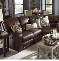 Versa Leather Sectional Sofa by Bassett Furniture