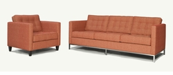 Vito Modern Sofa with Metal Base by Younger Furniture