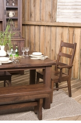 Amish Walnut Solid Wood Dining Set