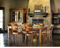 Amish Wellington Solid Cherry Hand Crafted Dining Set
