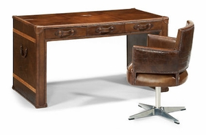Whiskey Leather Desk