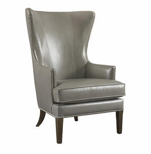 Whitney Leather Chair by Bassett Furniture